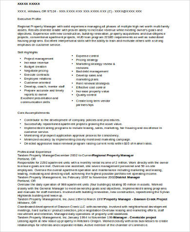 residential property manager resume sample resume property sample property manager resume - Sample Resume For Property Manager