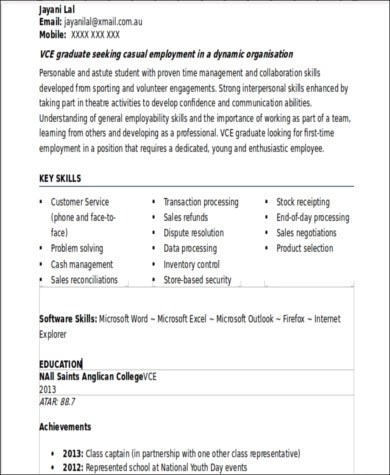 7+ Sample Resumes With No Work Experience Sample Templates - examples of resumes with no work experience