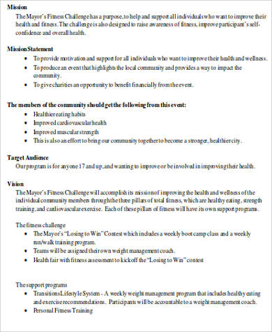Sample Proposal Template in Word - 8+ Examples in Word