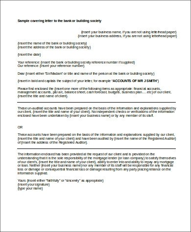 5+ Business Plan Cover Letter Samples Sample Templates - bank cover letter