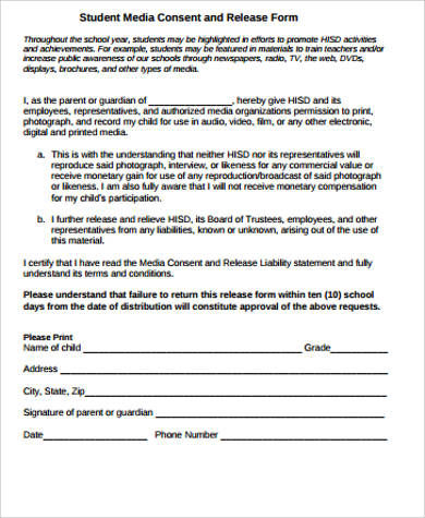Sample Media Release Form - 10+ Examples in Word, PDF - hipaa compliant release form