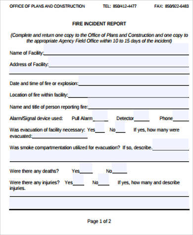 Incident Report Format Businesses Or Public Organizations Use This - incident report template word