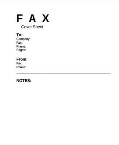 Free Printable Fax Cover Sheet - 7+ Examples in Word, PDF