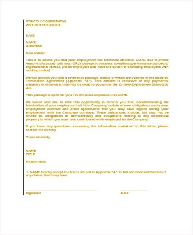 Employee Termination Form termination letter format employee - employee termination form