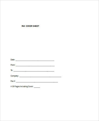 Sample Fax Cover Sheet in Word - 7+ Examples in Word