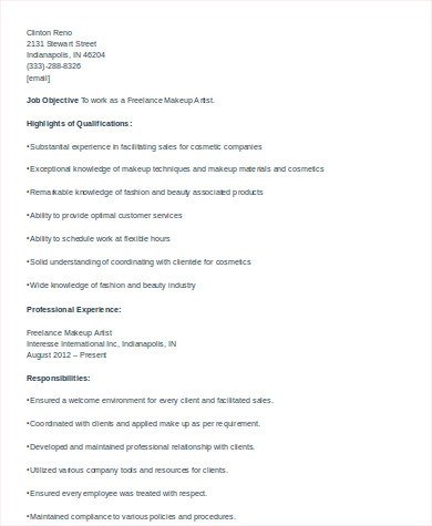 6+ Cosmetologist Resume Samples Sample Templates - cosmetologist resume sample