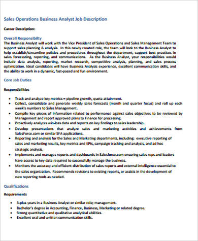 10+ Research Analyst Job Description Samples Sample Templates - Management Analyst Job Description