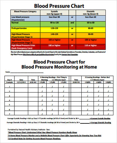 Sample Blood Pressure Chart in PDF - 9+ Examples in PDF
