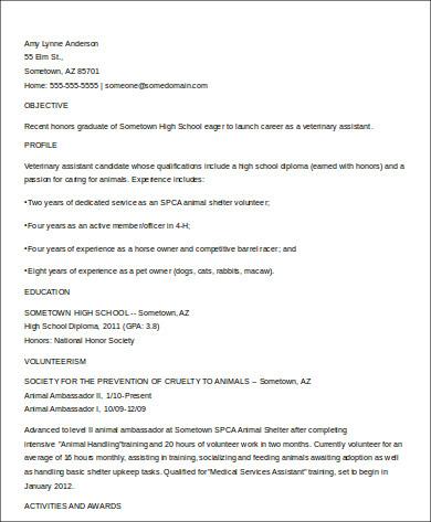 Sample High School Graduate Resume - 8+ Examples in Word, PDF