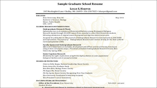 Sample High School Graduate Resume - 8+ Examples in Word, PDF