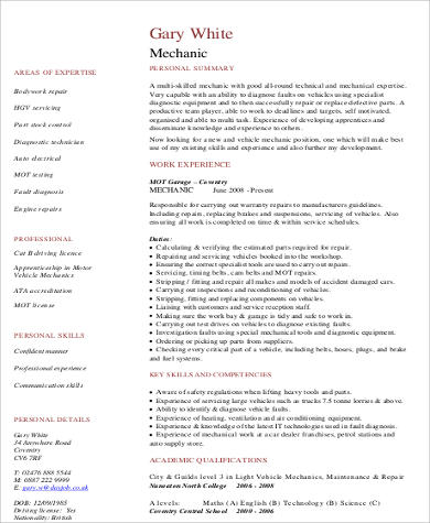 cheap school dissertation hypothesis sample great resume bullet - mechanic resume