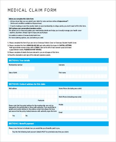 9+ Sample Medicare Claim Forms Sample Templates