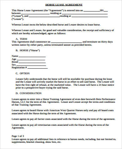 Lease Agreement Doc  ResumeTemplatePaasproviderCom