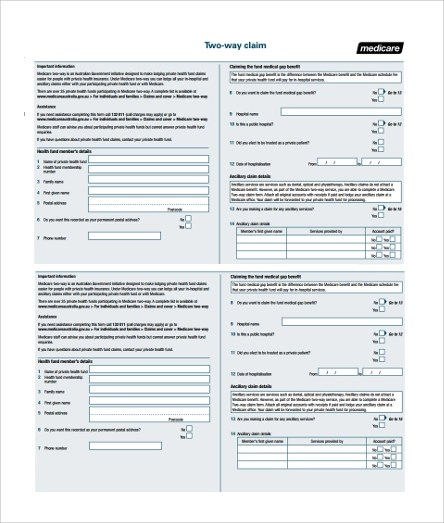 Sample Medicare Application Form Compare To Sample Below (Sample - sample medicare application form