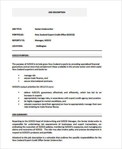 underwriter archive job descriptions. images gallery of underwriter ...