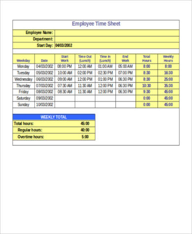 Sample Payroll Hours Calculator - 6+ Examples in Word, PDF - employee schedule calculator