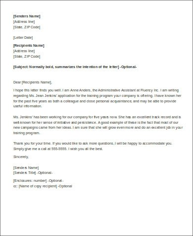 6+ Simple Personal Recommendation Letters Sample Templates - Personal Recommendation Letter