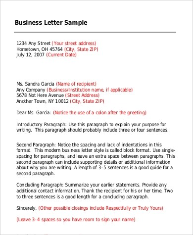 business letter greeting