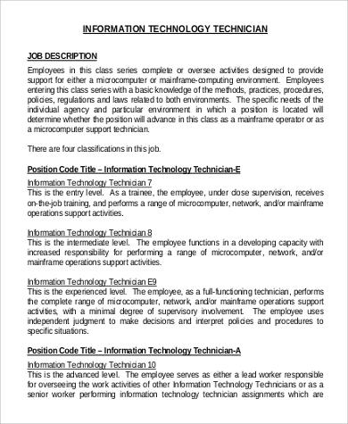 Information Technology Intern Job Description Sample Cover Letter - information technology intern job description