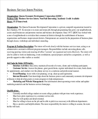 Office Intern Job Description  Resume Template Sample
