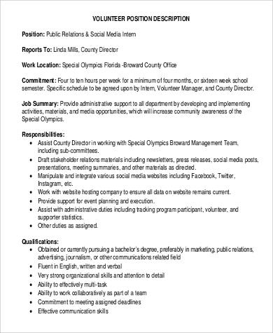 Social Work Intern Job Description Sample - 7+ Examples in Word, PDF