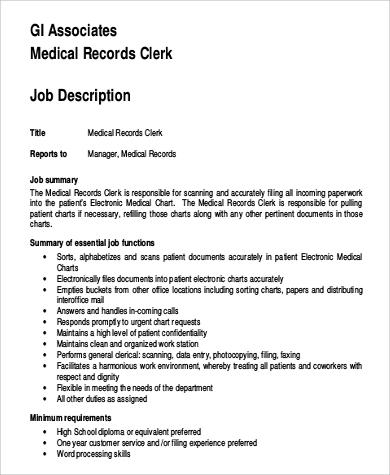 Medical Examiner Job Description Free Health Care Medical Records - medical examiner job description