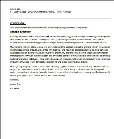 8+ Sample Marketing Executive Resumes Sample Templates - executive resume cover letter
