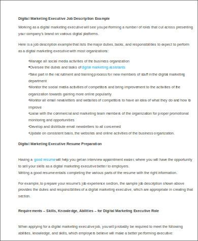 sample digital marketing account executive resumes - Yelom
