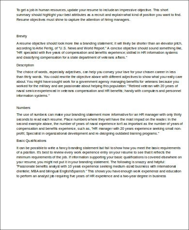 ... Hr Manager Resume Resume Sample 17   Human Resources Executive   Sample Hr  Resumes ...