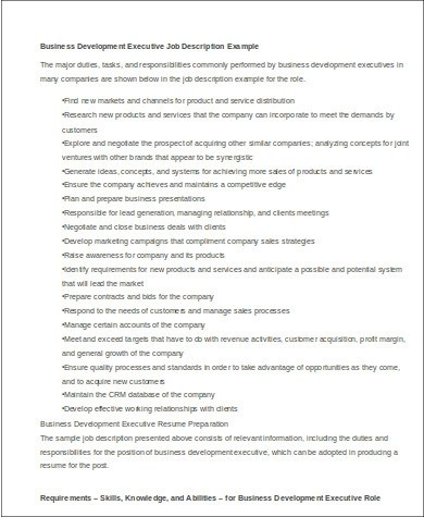 resume business development manager - Intoanysearch - Business Development Manager Job Description