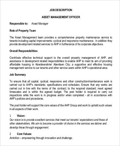 job description for property manager xv-gimnazija