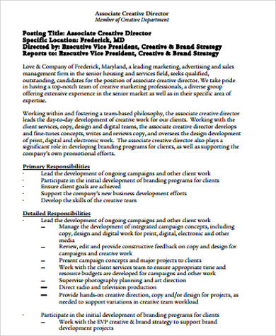 7+ Sample Executive Director Resumes Sample Templates - television director resume
