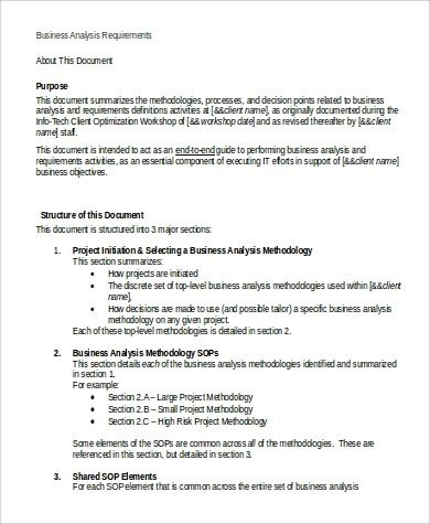 Business Requirement Document Sample - 9+ Examples in Word, PDF
