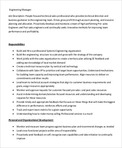 Job Description For Project Manager Nz | Job Application Form Word