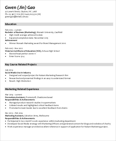 Sample Marketing Skills Resume - 8+ Examples in Word, PDF