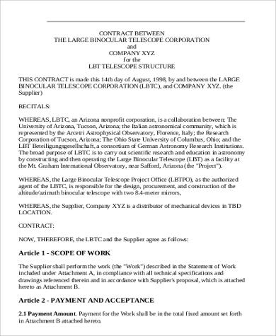 7+ Sample Business Agreements between Two Parties Sample Templates