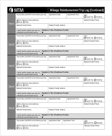 7+ Sample Mileage Log Forms Sample Templates - Mileage Reimbursement Forms