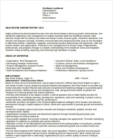 Ceo Resume Sample - 6+ Examples In Word, PdfCeo Resume Template - cto resume examples