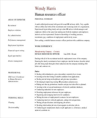 8+ Sample Professional Summary Resumes Sample Templates - sample summary for resume