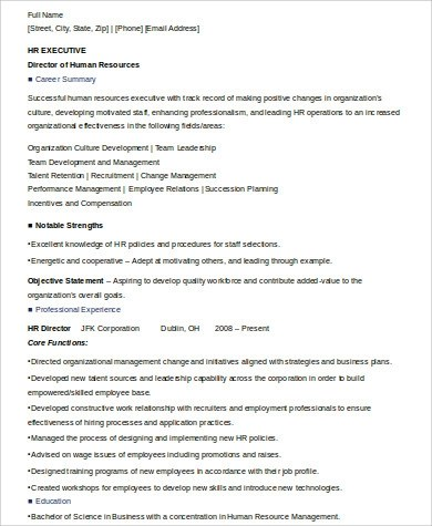 8+ Sample Executive Summary Resumes Sample Templates - example summary for resume