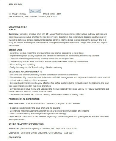 8+ Sample Executive Summary Resumes Sample Templates - an executive summary
