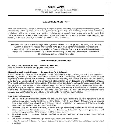 Sample Executive Summary Resume - 8+ Examples in Word, PDF - executive summary in resume