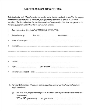 Activity Consent Form Template Images - Template Design Ideas - free child travel consent form template