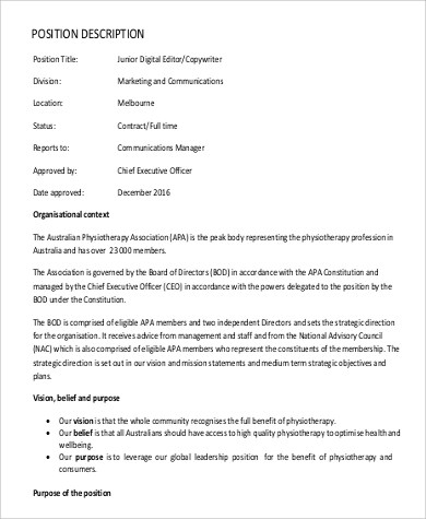 executive editor job description hitecauto - chief executive officer job description