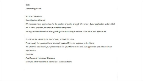 Pretty Investor Rejection Letter Samples Images \u003e\u003e Right Of First - investor rejection letter samples