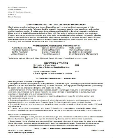 Sample Marketing Assistant Resume - 8+ Examples in Word, PDF - marketing assistant resume