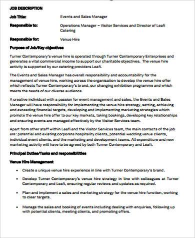9+ Sales and Marketing Job Description Samples Sample Templates - sales and marketing job description