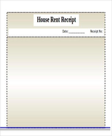 House Rent Receipt Sample - 7+ Examples in Word, PDF - house rent receipt form