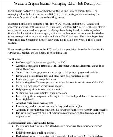 Managing Editor Resume  NodeResumeTemplatePaasproviderCom