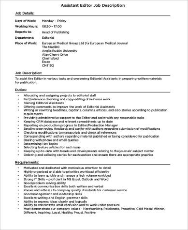 Photo Editor Job Description  NodeCvresumeCloudUnispaceIo